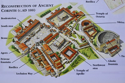 Ancient city of Corinth, reconstructed