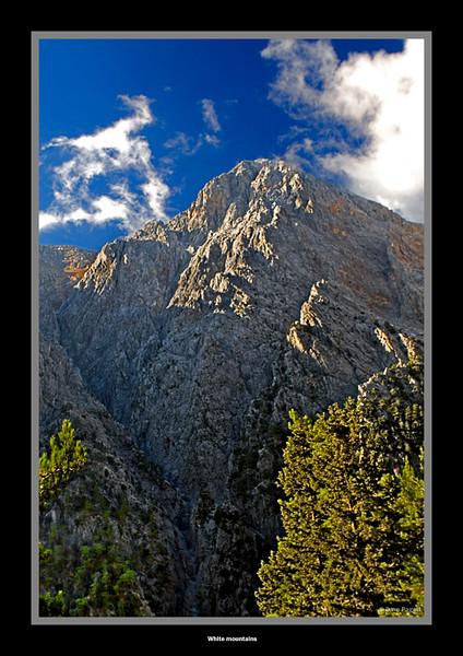 White Mountains at the head of Samaria Gorge
