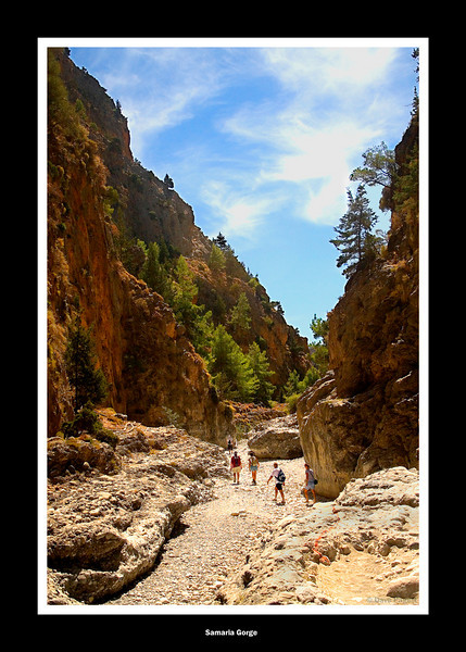 Samaria Gorge Crete, nearing the end.
