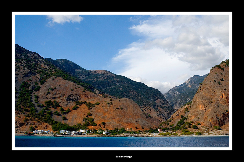 Samaria Gorge the  end at the coastal village of Aya Roumeli