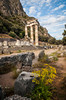 The Tholos Temple, Sanctuary of Athena ruins in Delphi, Greece.