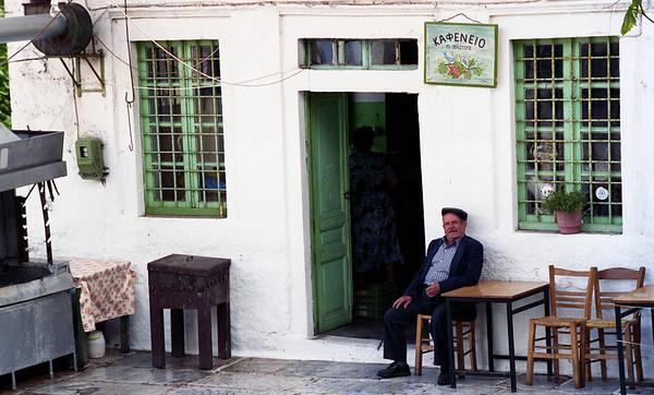 old man at a kafeneion, Coronos, on the island of Naxos