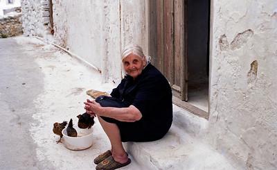old woman, Amorgos
