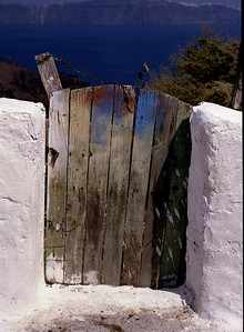 door to the Caldera, Santorini