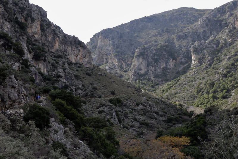 Looking south in the Tsichliano Gorge, Crete, 23 December 2009