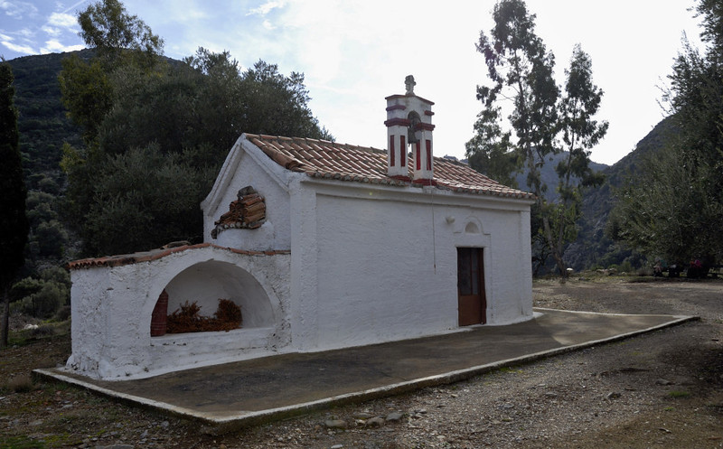Church of Aghios Ioanis (St John) at the northern end of the Tsichliano Gorge, Crete, 23 December 2009
