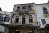 Derelict house, Chania harbour, Crete, Christmas day 2009.     Surprisingly, a number of buildings in Hania are derelict and appear to have been abandoned.