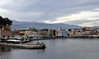Looking southwest over the outer harbour, Chania, Crete, Christmas Day 2009.    The mosque of Kioutsouk Hasan is at left.