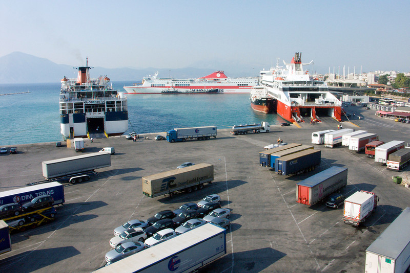 Patras harbor, Peloponnese, Greece (2006)