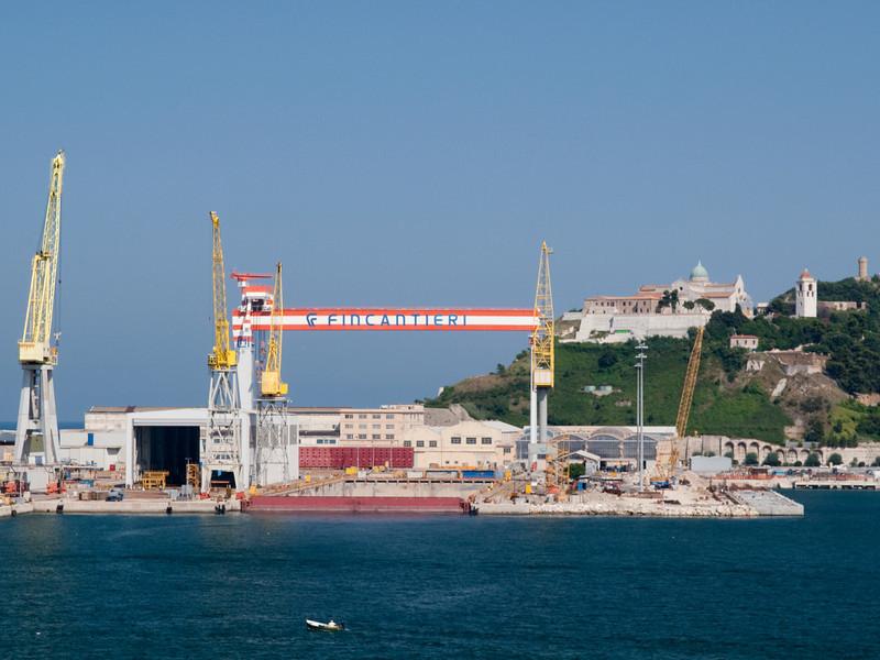 Fincantieri shipyard, Ancona port, Marche, Italy<br /> <br /> E-420 & Zuiko 12-60/2.8-4.0