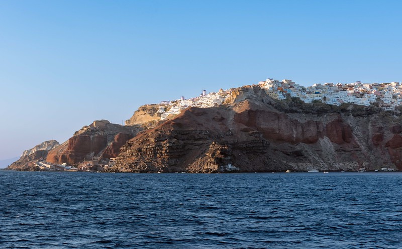 Santorini from The Sea