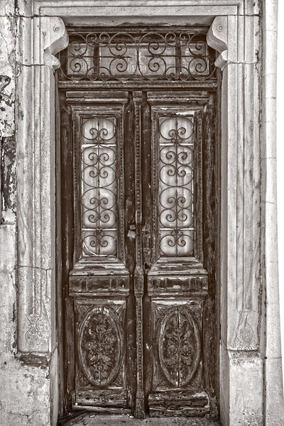 Very Old Door with Decorations