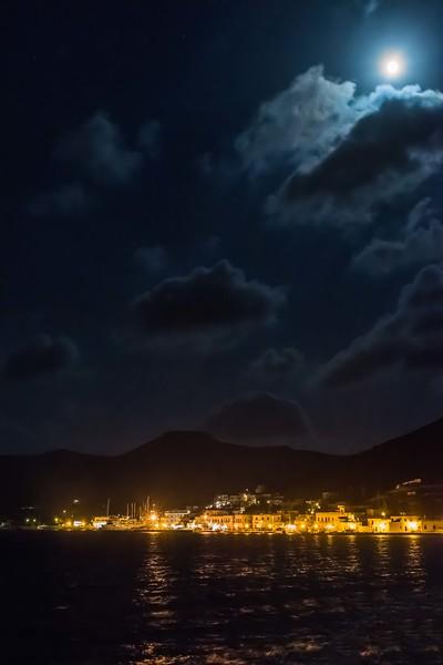 Moon over Amorgos