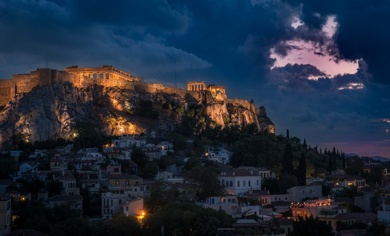 Storm Over Acropolis