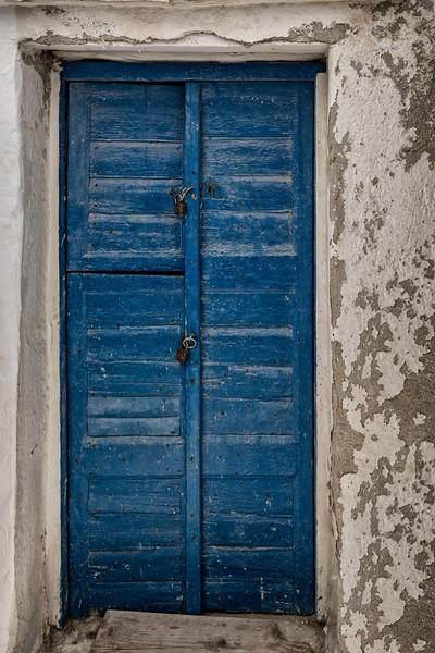 Old Blue Door and Locks