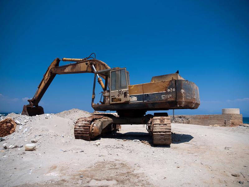 excavator, Koroni village, Messenia, Greece<br /> <br /> E-420 & Zuiko 12-60/2.8-4.0