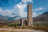 A square Mani Tower monument near Aereopoli, Greece.