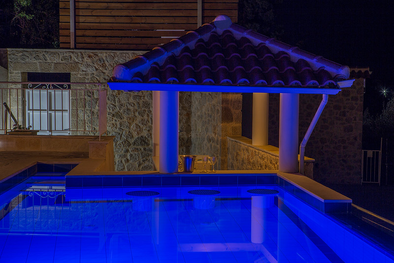 Villa Ambelina Poo lBar at Night