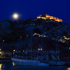 Moonrise over Molyvos castle