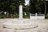 A memorial park in the village of Litohoro, Greece.