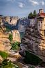 The monastery Moni Agias Varvaras Rousanou in the Meteora region of Greece.