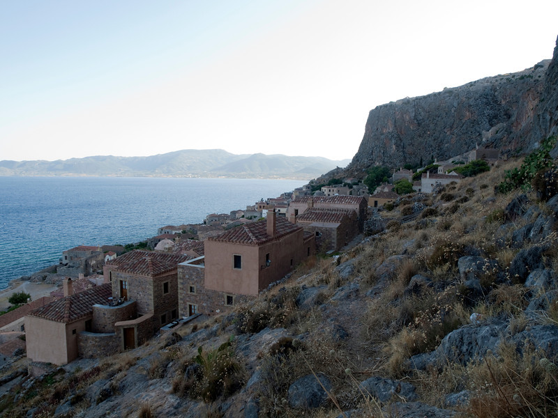 Monemvasia as seen from the east, Lakonia, Greece<br /> <br /> E-600 & Zuiko 12-60/2.8-4.0