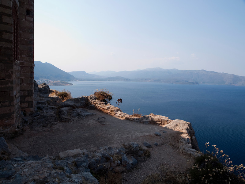 coast north of Monemvasia, view from Hagia Sophia, Lakonia, Greece<br /> <br /> E-420 & Zuiko 12-60/2.8-4.0
