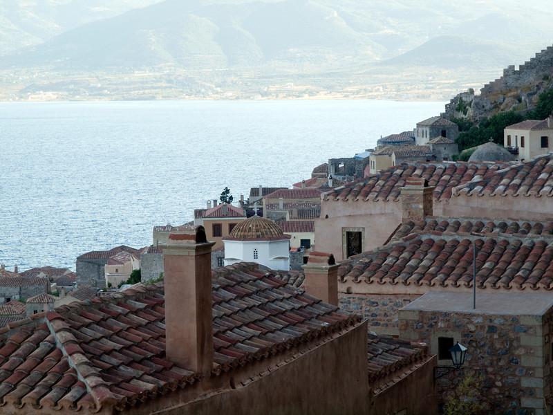 Monemvasia roofs, Lakonia, Greece<br /> <br /> E-600 & Zuiko 12-60/2.8-4.0