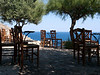 Coffe chairs in front of the Malvasia Hotel<br /> Monemvasia, Lakonia, Greece<br /> <br /> E-420 & Zuiko 12-60/2.8-4.0