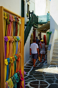 Small shops attempted to lure in tourists