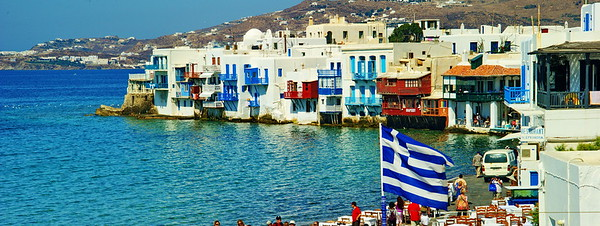 Mykonos, Greece located in the Aegean Sea