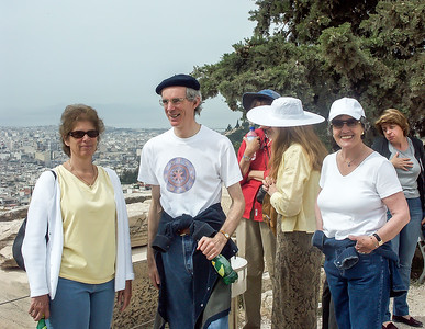 Our group is gathering in Athens.  We take a quick look around at the sights and views at the Acropolis.