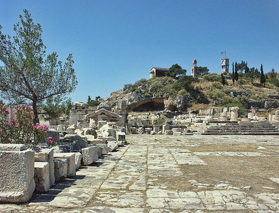 Our last monument site near Athens.  The ruins of Eleusis.