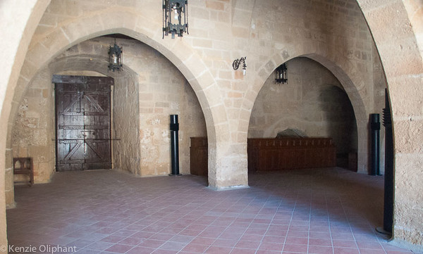 Rhodes Castle of the Grand Masters courtyard undercroft