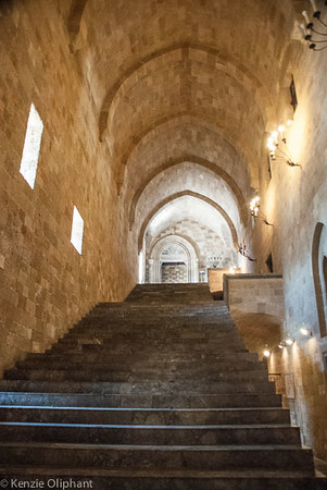 Rhodes Castle of the Grand Masters grand staircase