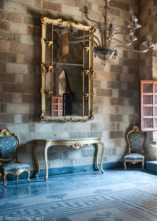 Rhodes Castle of the Grand Masters mirror