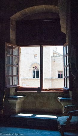 Rhodes Castle of the Grand Masters window