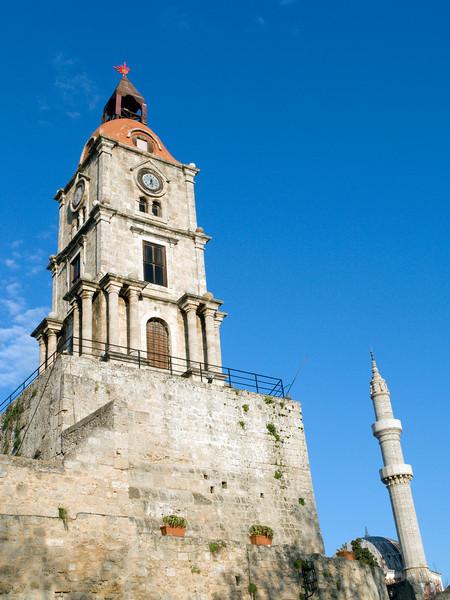 Rhodos oldtown, clocktower