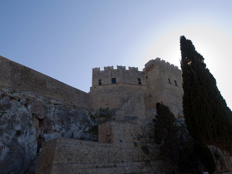 Lindos castle, northern side