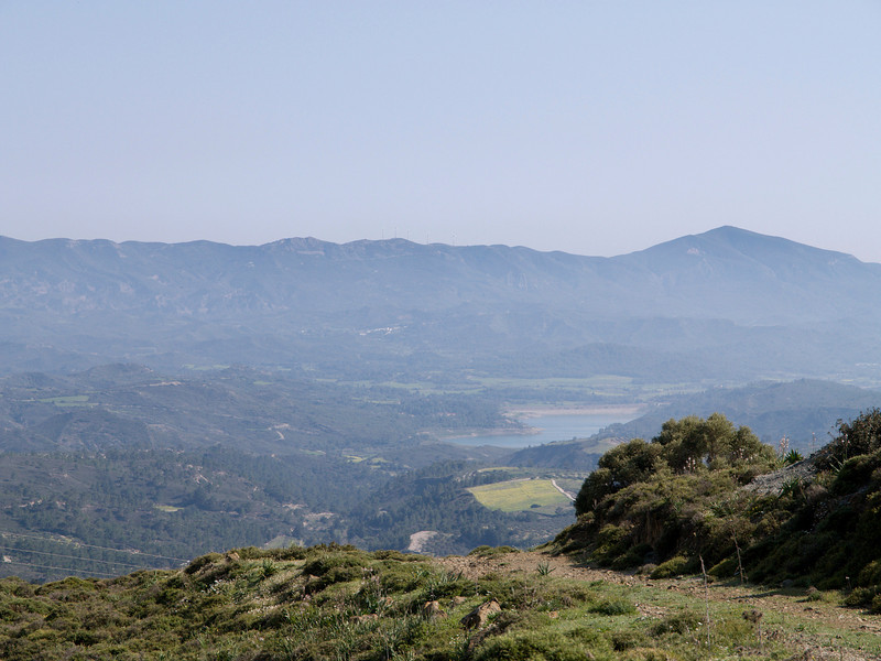 Apolakkia reservoir, as seen from Siana