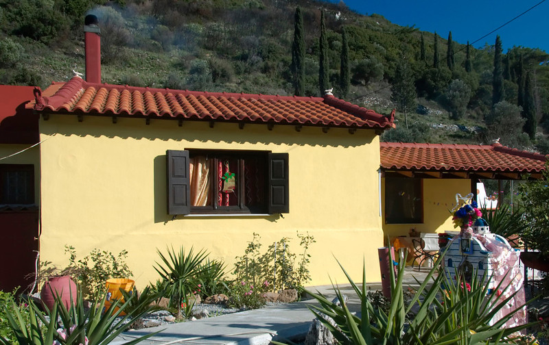 House near Kamara, Samos, Greece, 25 December 2008