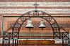 Church bells in a byzantine church in Thessaloniki, Greece.