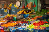 A colorful fruit market on Tsimiski Street in Thessaloniki, Greece.