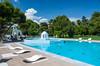 The pool area at the Kalamata Hotel and Resort on Kalamata Beach, Greece.