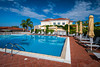 The pool area of the Akti Taygetos hotel and Resort in Kalamata, Greece.