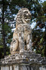 The historic Amphipolis lion of Hellenistic origin near the Strymon River in Greece.