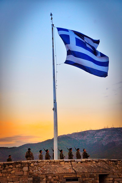 National Flag of Greece. 2017.