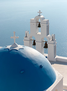 Dome and Bell-tower of Firostefani Church