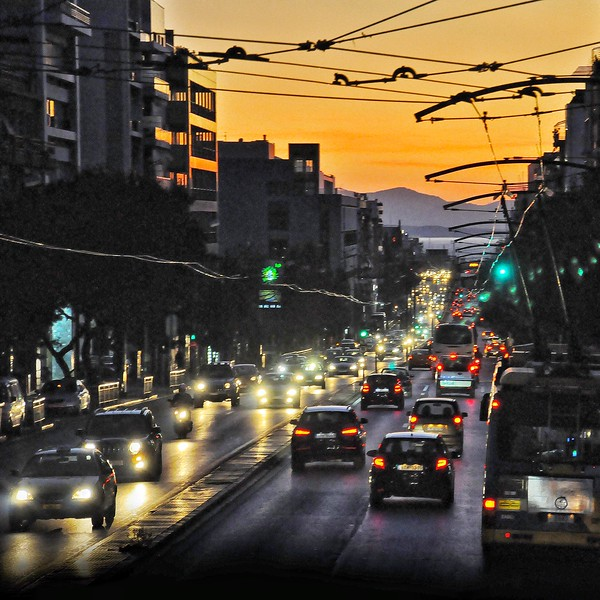Rush Hour in Athens. 2017.