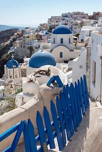 Blue and White Churches Oia, Santorini